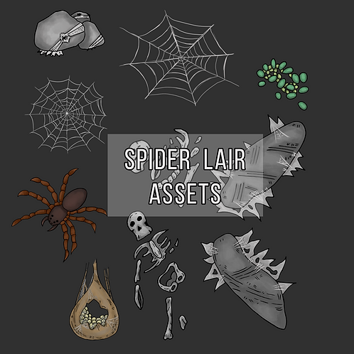 Spider Lair Map Assets
