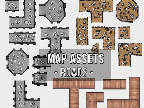 City Road Map Assets