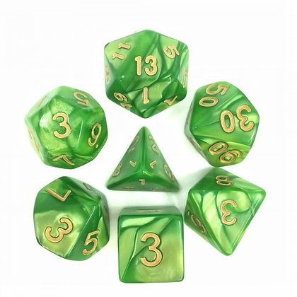 Falling Leaf Dice Set