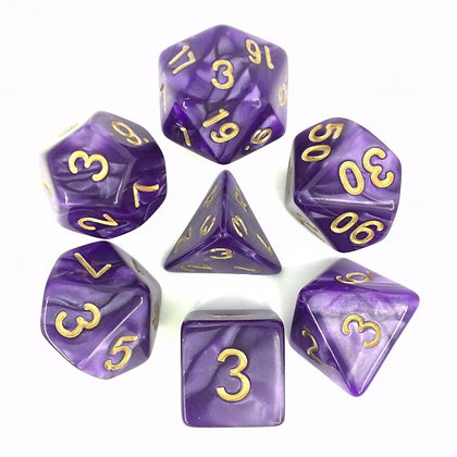 Lavender Dice Set