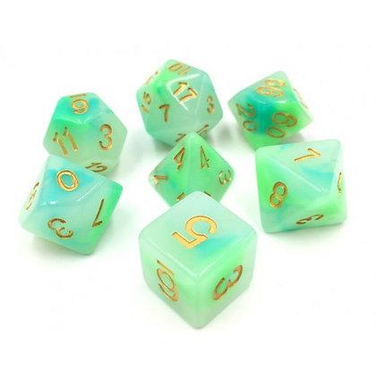 Jade Pearl Dice Set
