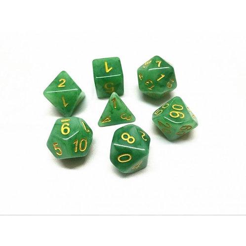 Forest Jade Dice Set