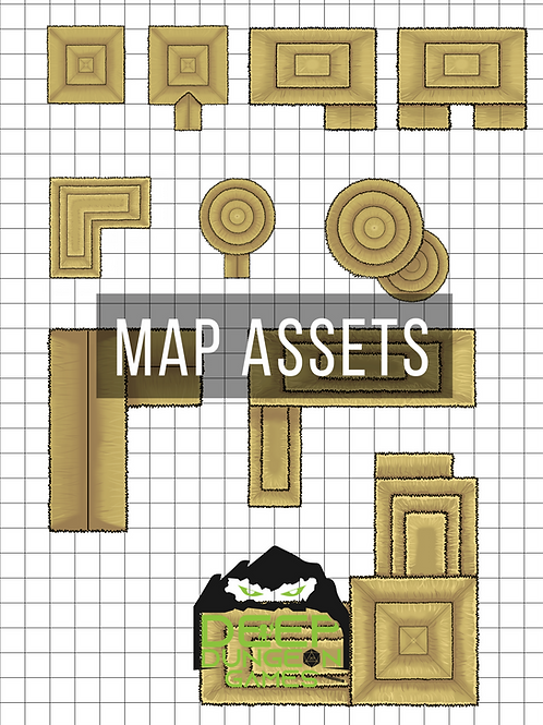 Tan Thatched Roof Building Map Assets
