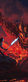 Battle with fire during the Primordial