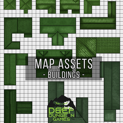 Green Wood Roof Building Map Assets