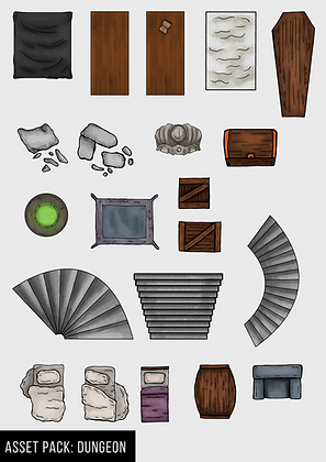 Dungeon Lair Map Assets