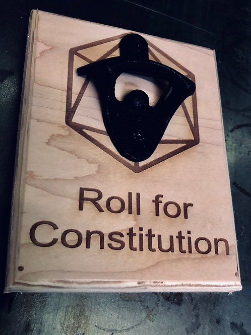 Roll For Constitution Bottle Opener