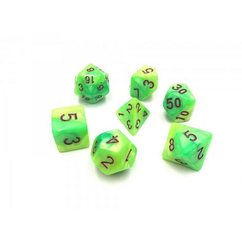 Green Spirit Dice Set