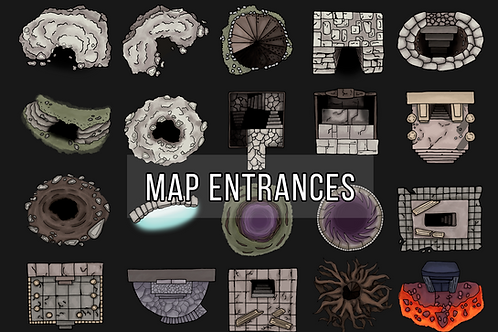 Dungeon Entrances Map Assets