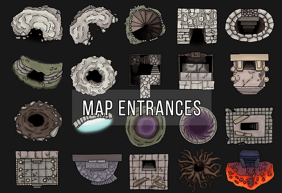 Dungeon Entrances Map Assets