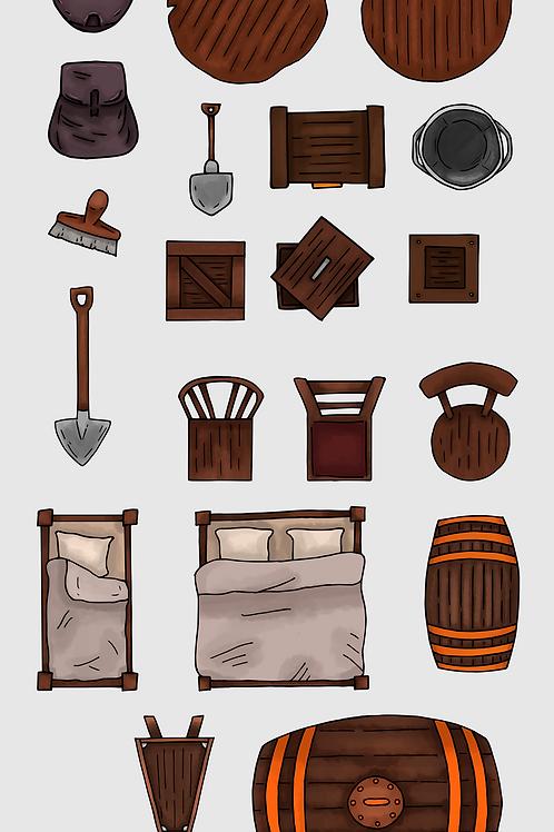Tavern Room Map Assets