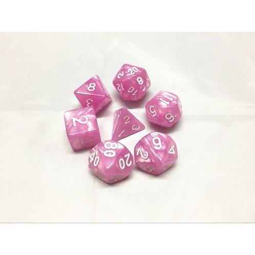 Pink Pearl Dice Set