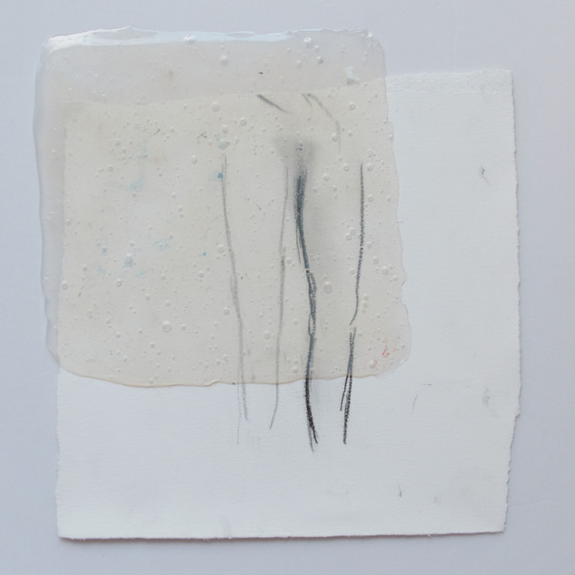 Untitle, 2016, Pencil, pastel and glue on paper