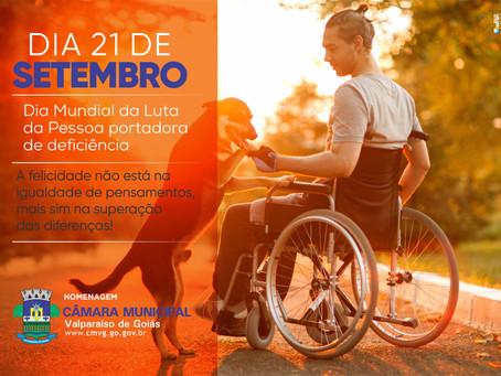 Dia 21 de Setembro dia Mundial da pessoa com Deficiência Física!!!