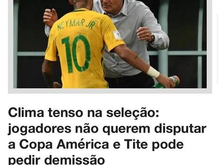 Jogadores não querem disputar Copa América