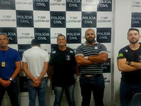 Grupo A da 1ª DDP de Luziânia prendem suspeito de estupro de vulnerável em flagrante