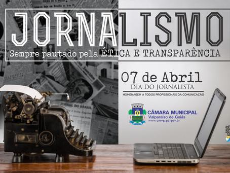 Homenagem da Câmara de Vereadores aos Jornalistas!!!