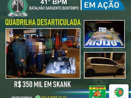 Quadrilha envolvida em série de furtos em Aparecida é presa na madrugada
