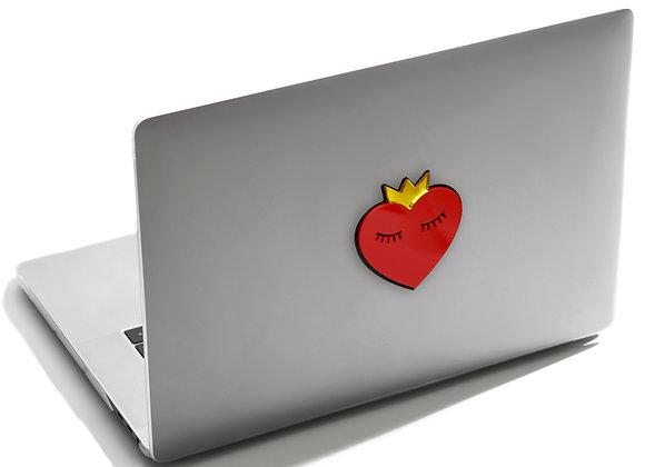 Объемная наклейка на ноутбук (Сердце в короне)