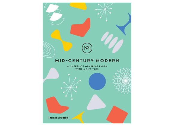 Mid-Century Modern: 10 Sheets of Wrapping Paper