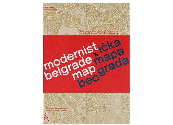 Modernist Belgrade map