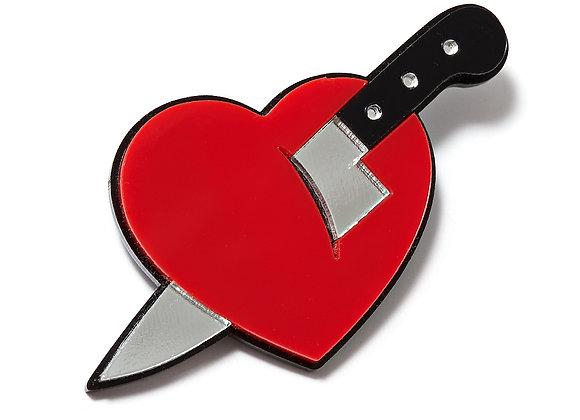 Брошь Нож В Сердце