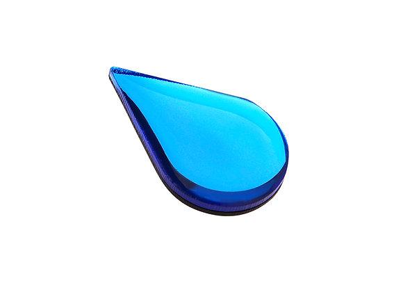 Брошь Капля голубая