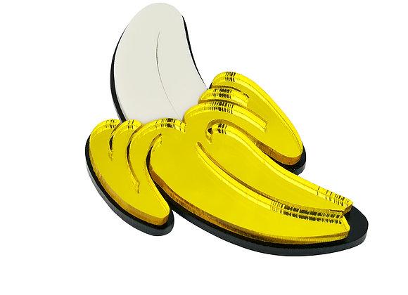 Брошь Открытый банан