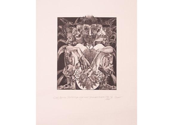 """Олег Яхнин - """"Анатомия мужчины"""", 2000, офорт, формат 39 х 53"""