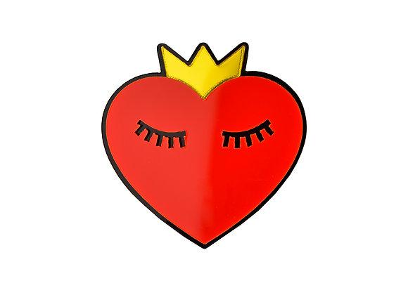 Брошь Спящее Сердце В Короне