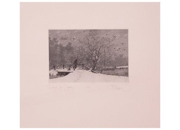 Константин Калинович - Waiting for spring, 29,7 х 27