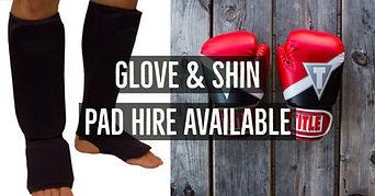 Kombat Cardio glove and shin pad hire