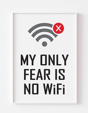 No WiFi  | Gaming Theme Print