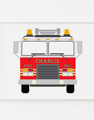 Fire Truck | Personalised