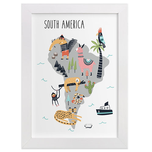 South America Animal Map