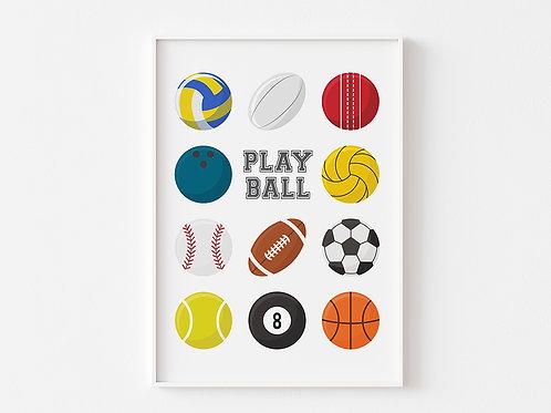 Play Ball | Sports Theme Print