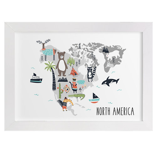 North America Animal Map