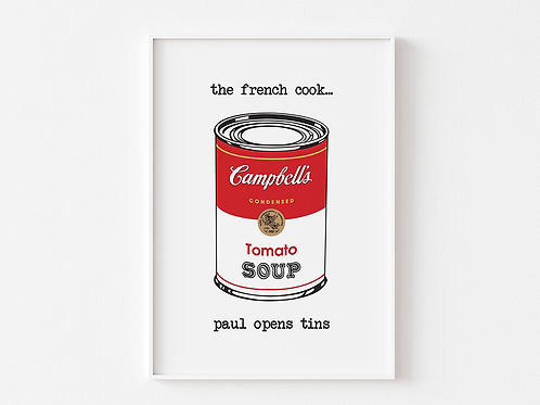 Soup Can |  The French Cook Print