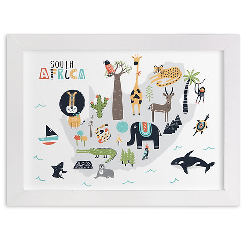 South Africa Animal Map
