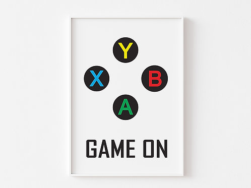 Game On  | Gaming Theme Print | Xbox
