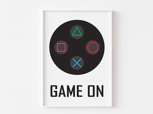 Game On  | Gaming Theme Print | Playstation