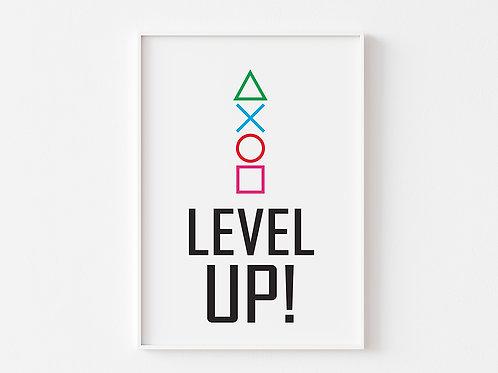 Level Up  | Gaming Theme Print