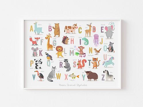Colourful Animal Alphabet