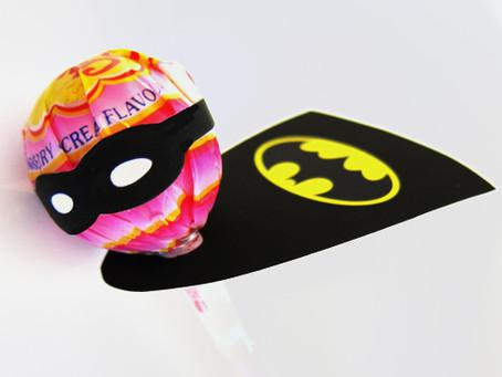 Superhero Lollipop Capes and Masks