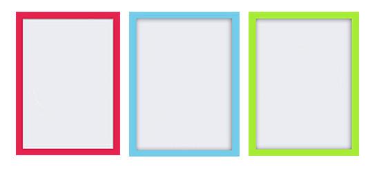 Coloured frames on Amazon