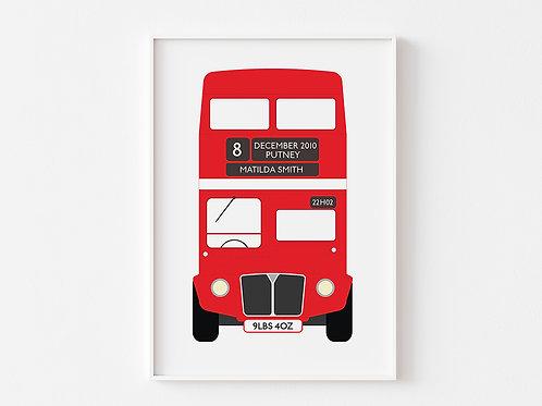 Personalised London Bus