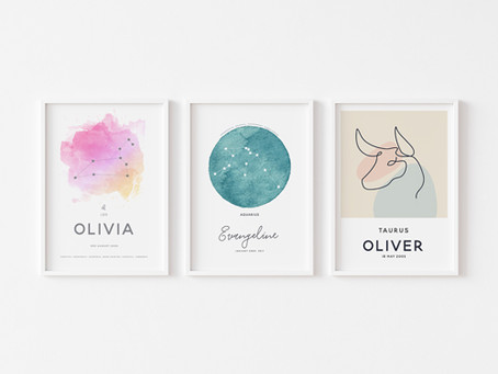 Personalised Zodiac Prints