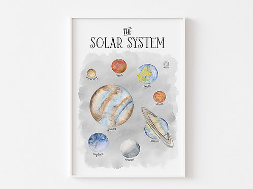 The Solar System | Space Theme Print