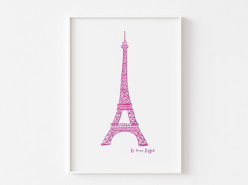 Eiffel Tower Sketch | Girls Room Decor