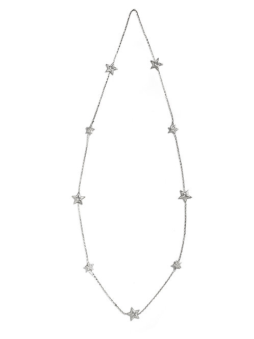 Two Face Star Cut Out Necklace